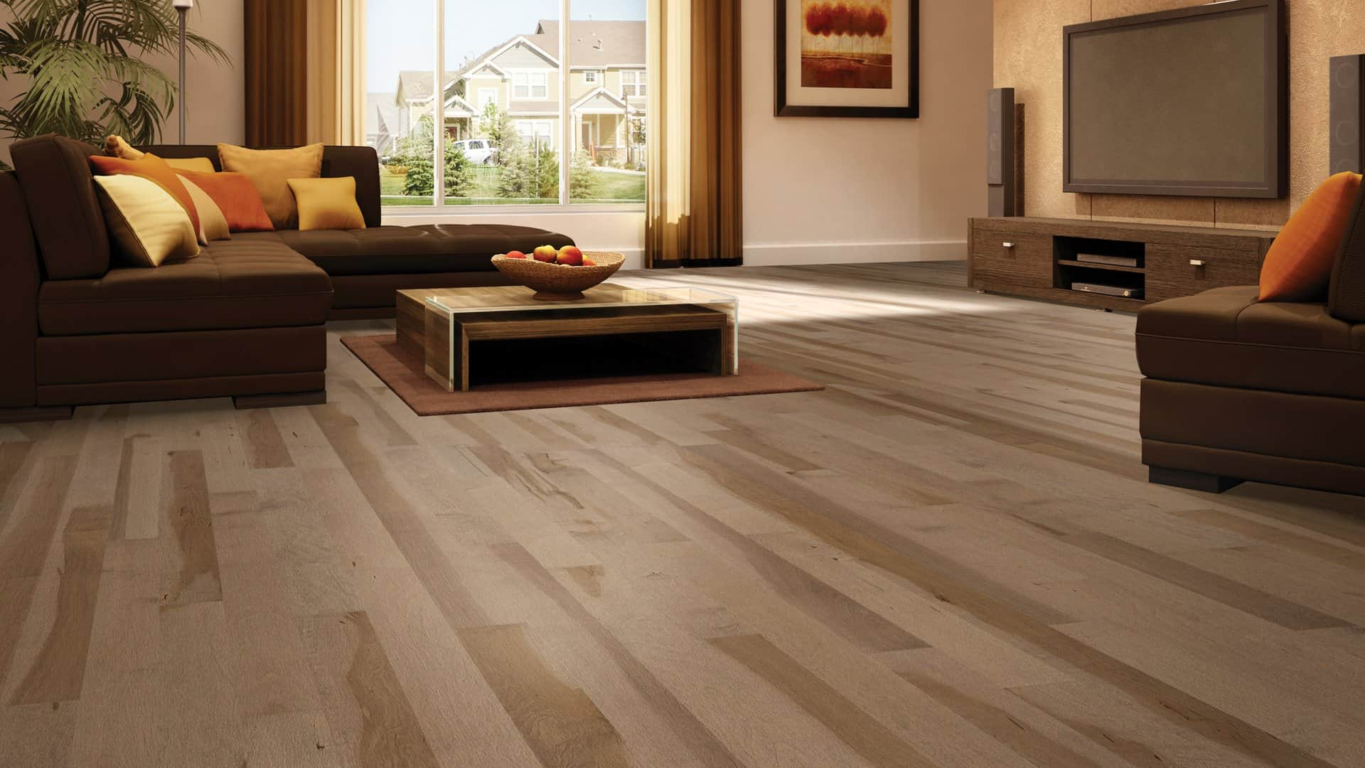 Hardwood Floor Room Decor
