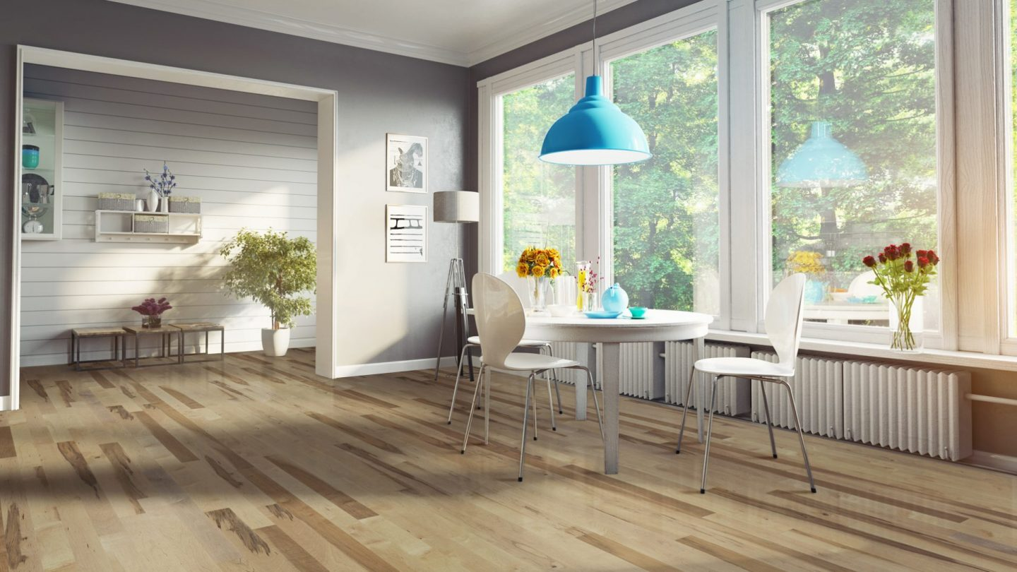 Hard maple mineral | Dubeau hardwood floors | Kitchen decor