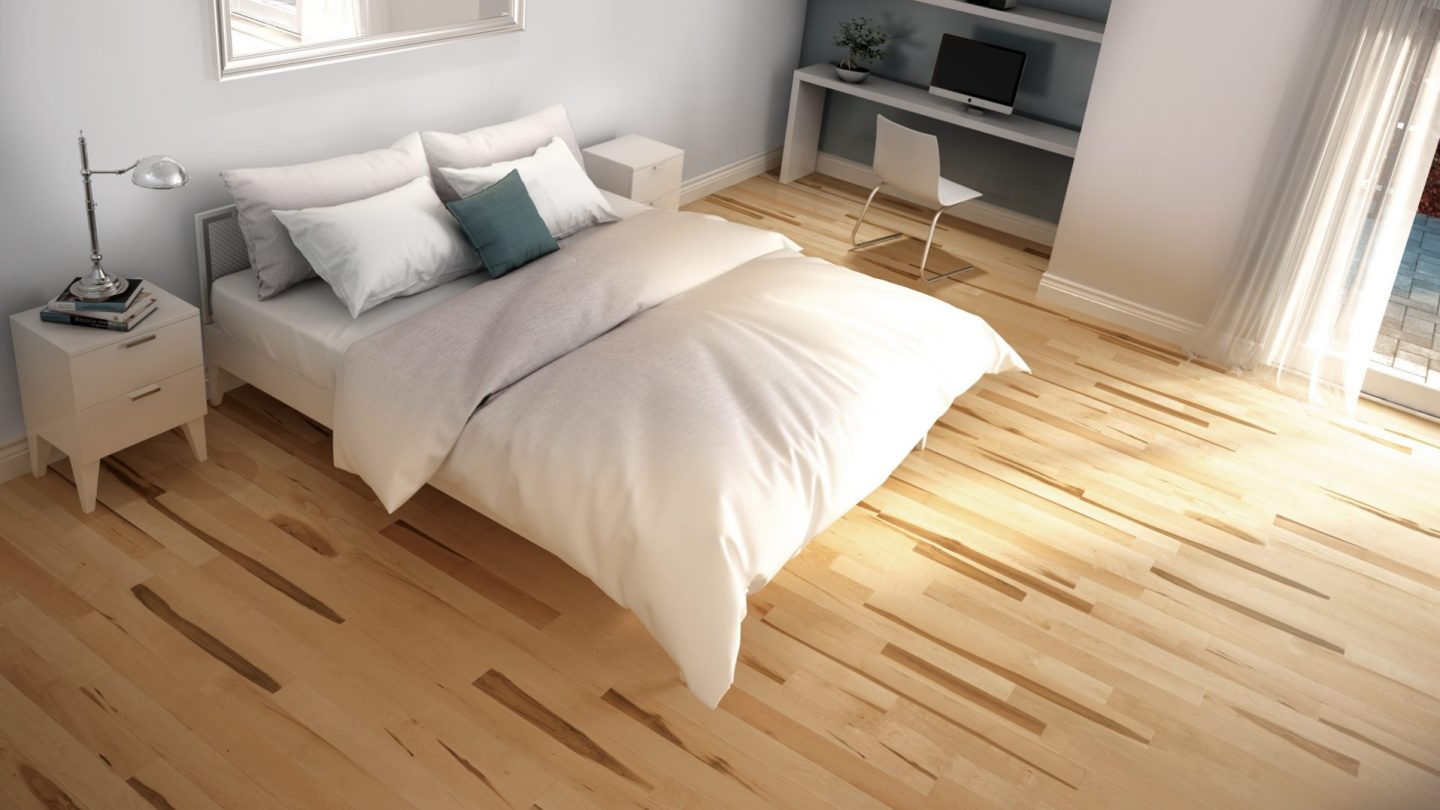 Hard maple natural variation | Dubeau hardwood floors | Bedroom decor