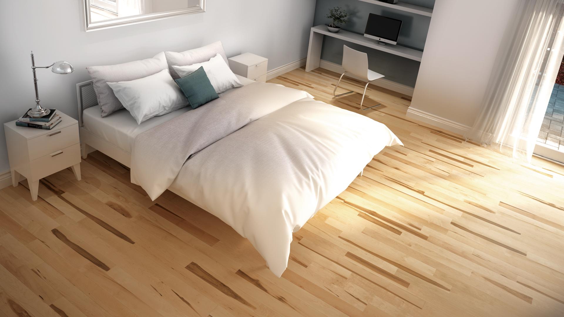 Hard maple natural | Dubeau hardwood floors | Bedroom decor