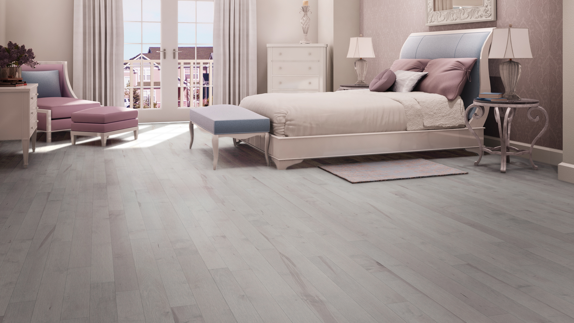 Hard maple nickel | Dubeau hardwood floors | Bedroom decor
