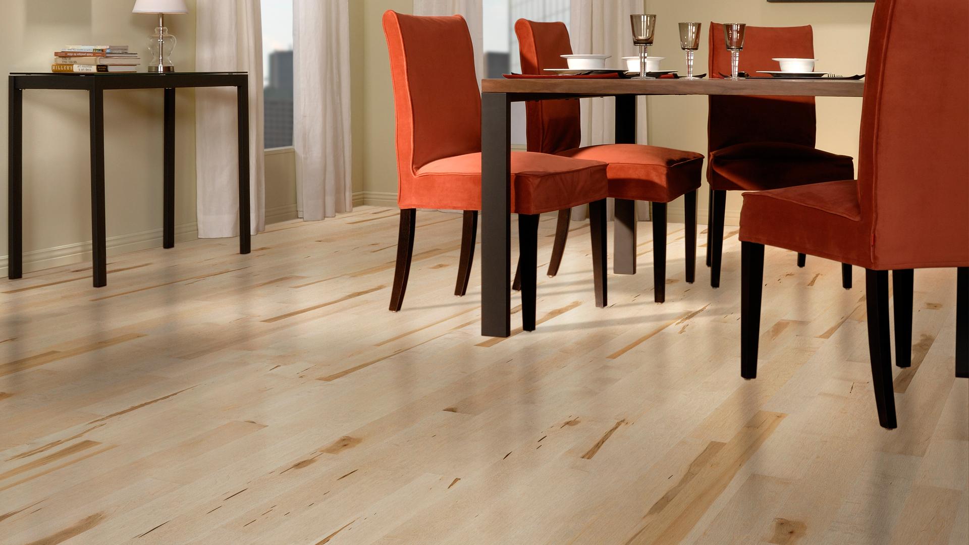 Hard maple sisal | Dubeau hardwood floors | Dining room decor