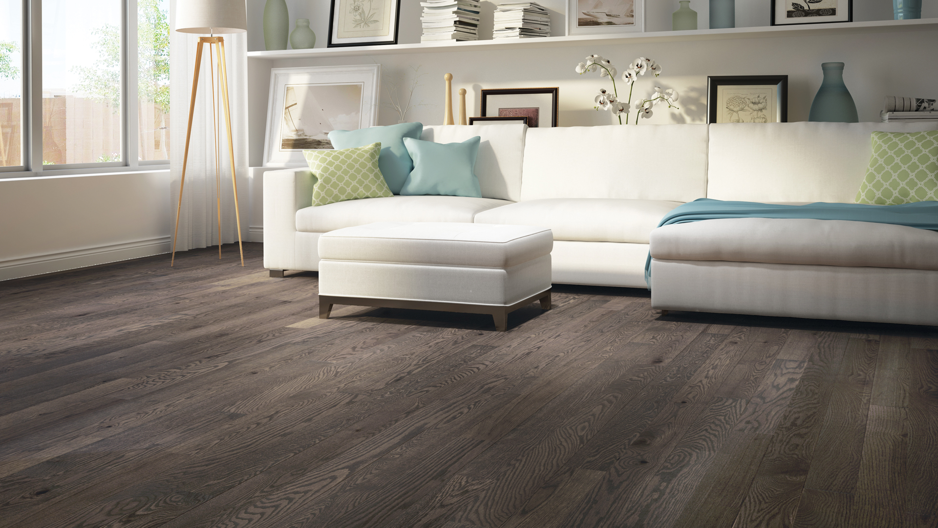 Red oak montpellier | Dubeau hardwood floors | Living room decor