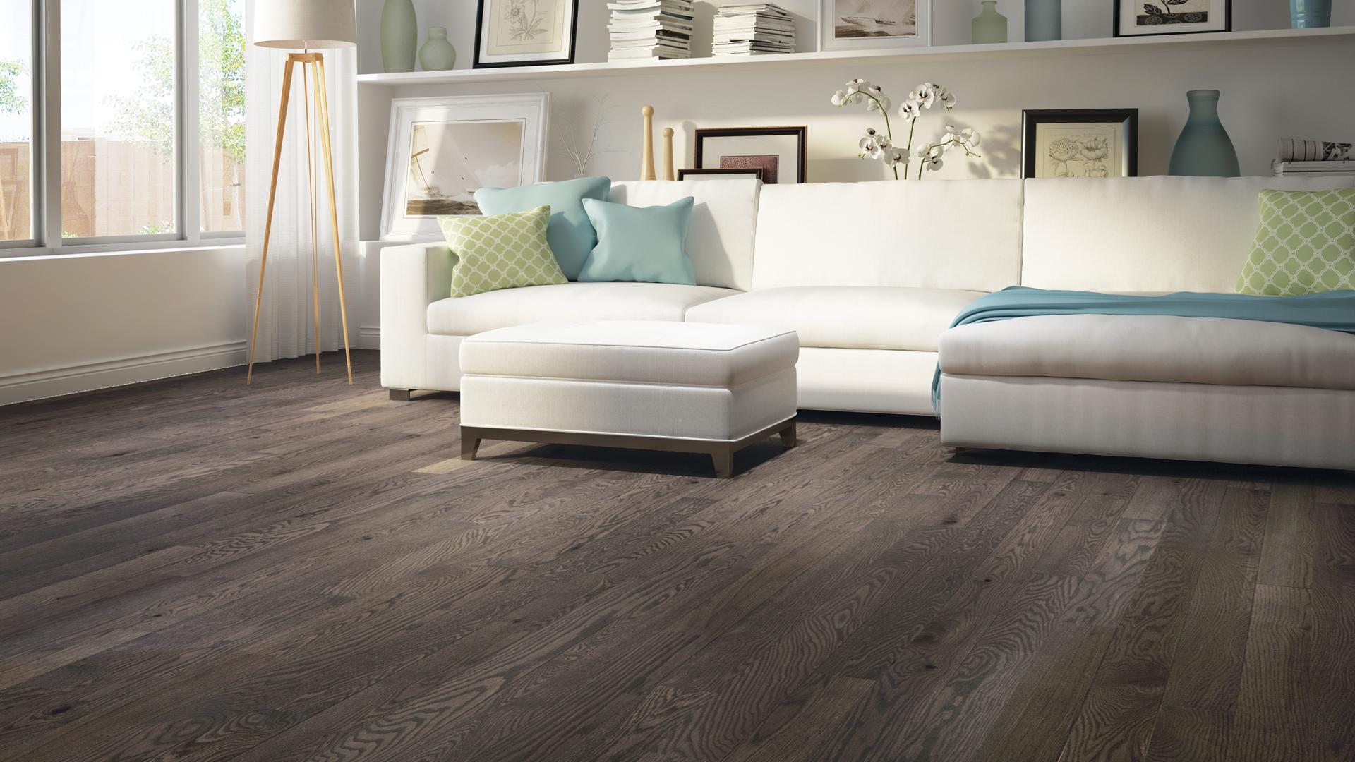 Red oak montpellier | Dubeau hardwood floors | Living room decor