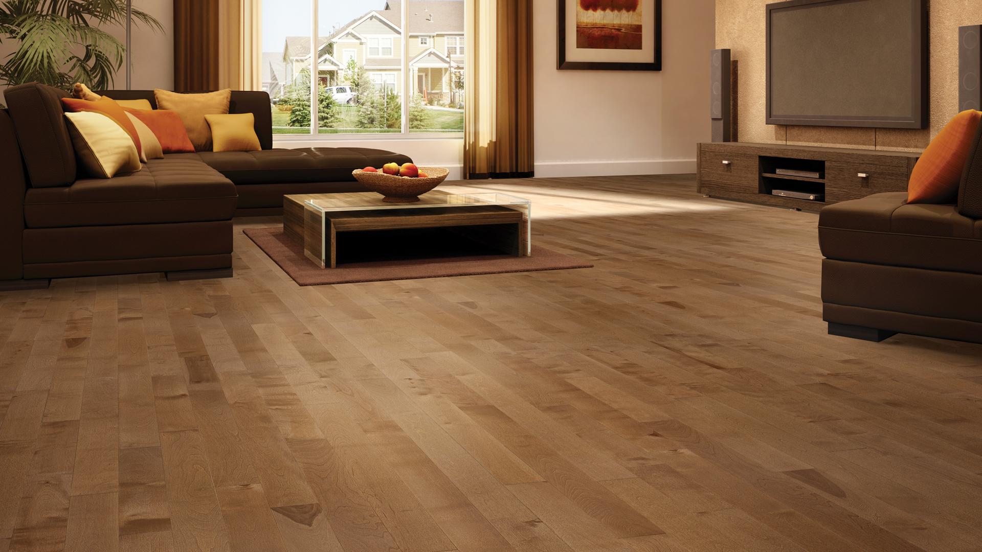 Yellow birch papyrus | Dubeau hardwood floors | Living room decor