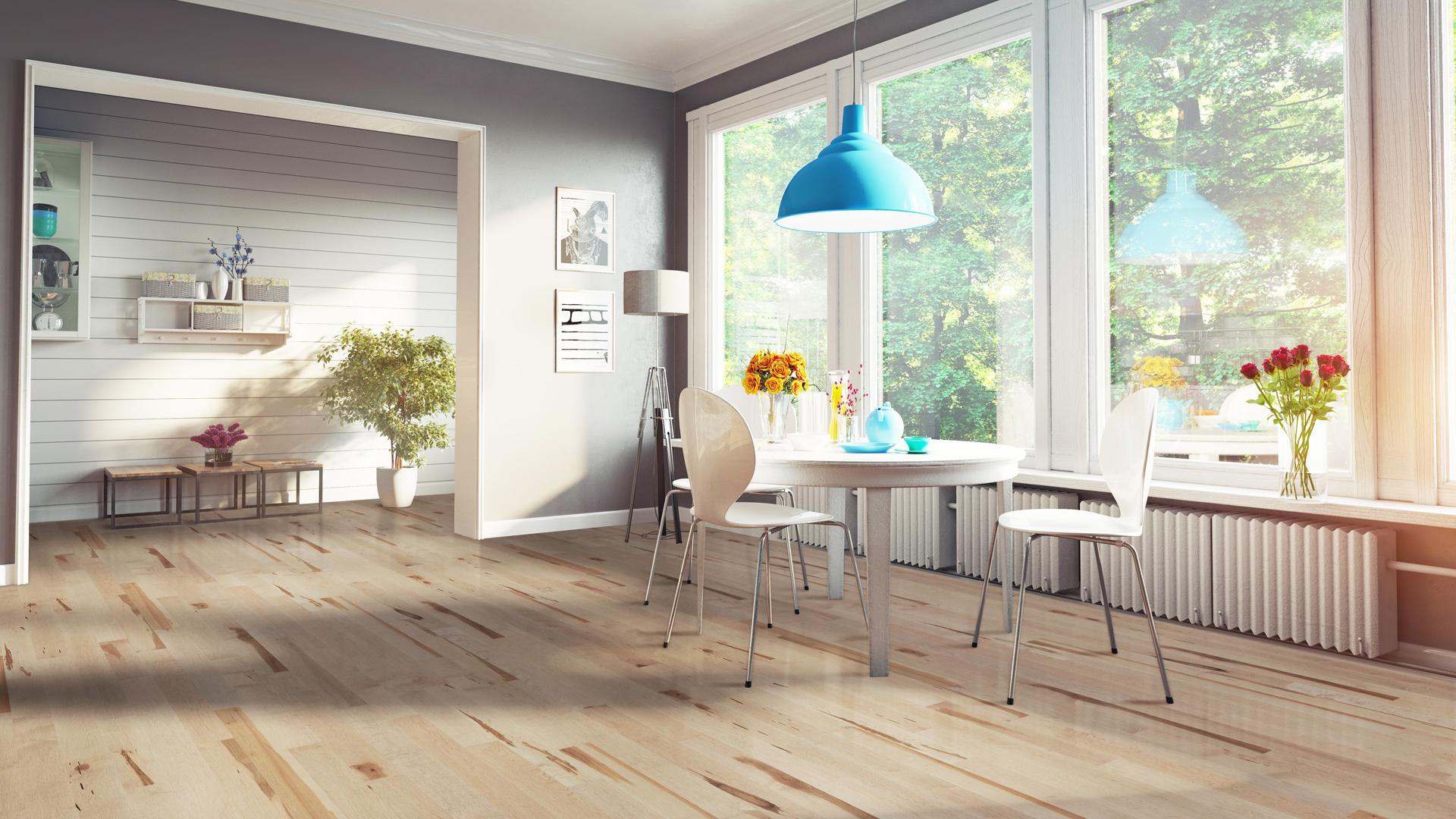 Hard maple sisal | Dubeau hardwood floors | Kitchen decor